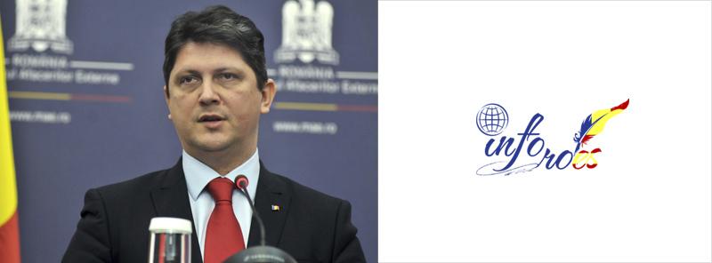 Ministrul de Externe, Titus Corlățean, interimar în funcția de ministru delegat pentru Românii de Pretutindeni