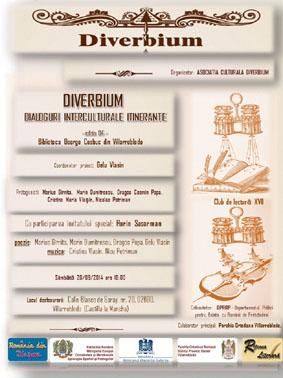 """Albacete: Diverbium organizează a patra ediție a evenimentului aritstico-cultural  """"Dialoguri Interculturale Itinerante"""""""