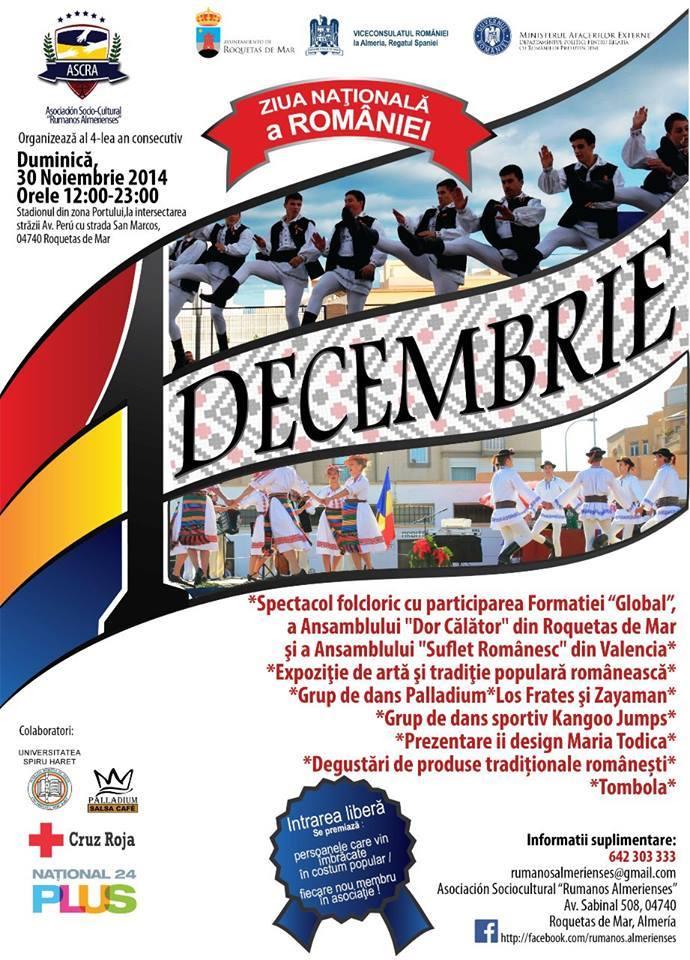 Almería: Spectacol folcloric dedicat Zilei Naționale a României