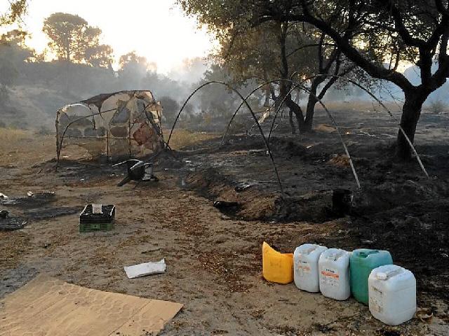 Huelva: O tabăra ilegală unde locuiau mai mulți români a fost cuprinsă de flăcări