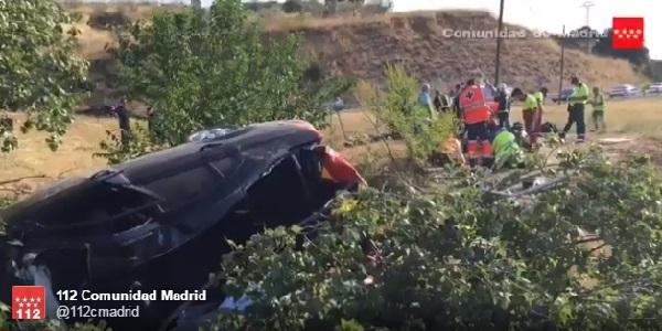 Familie de români  implicată într-un tragic accident la Madrid. Un copil și bunica lui au murit!