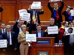 protest in parlament