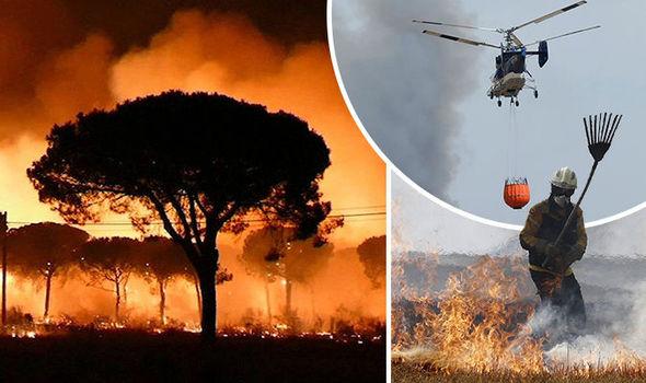 Spania. Incendiu devastator în Parcul Național Donana. Aproximativ 2000 de persoane evacuate