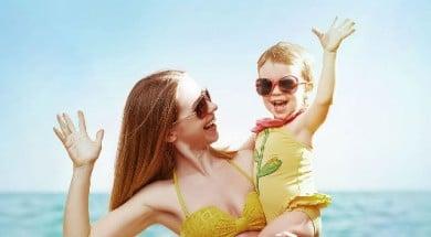 copilul la plajă