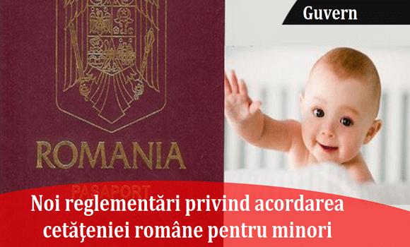 Guvernul schimbă legea privind acordarea cetățeniei române pentru minori
