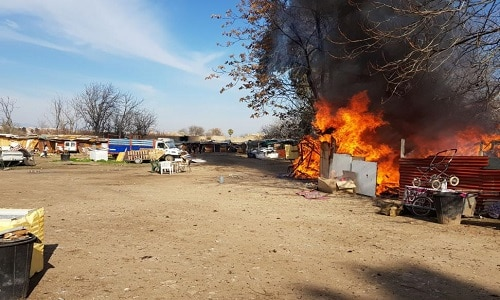 Cordoba. O tabără ilegală de români a luat foc